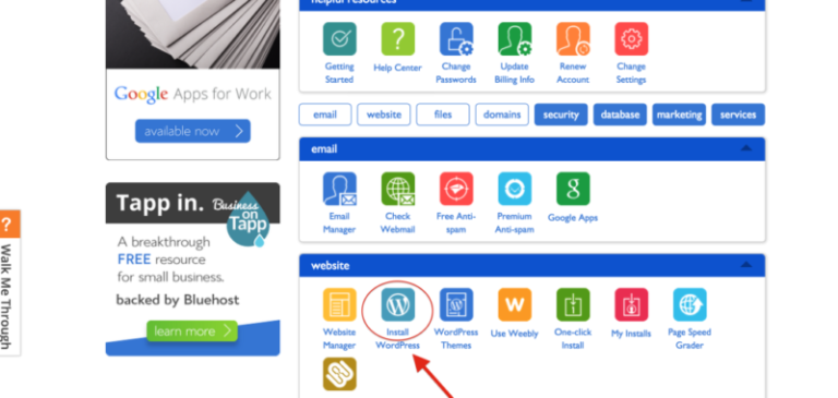 تركيب ووردبريس علي بلوهوست Install WordPress Bluehost